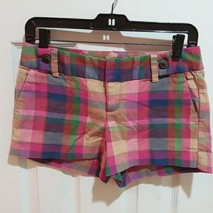 Banana Republic Ryan Fit Plaid Shorts Sz 0